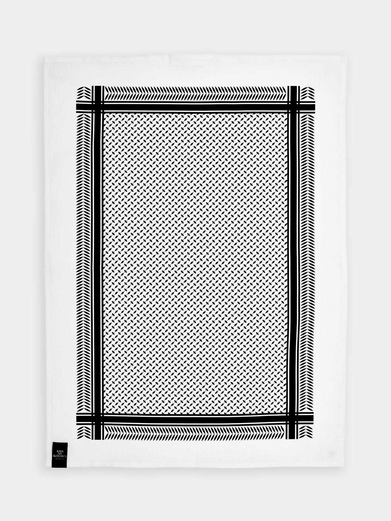 geschirrtuchpali pur white black mit rand kiss my kitchen. Black Bedroom Furniture Sets. Home Design Ideas