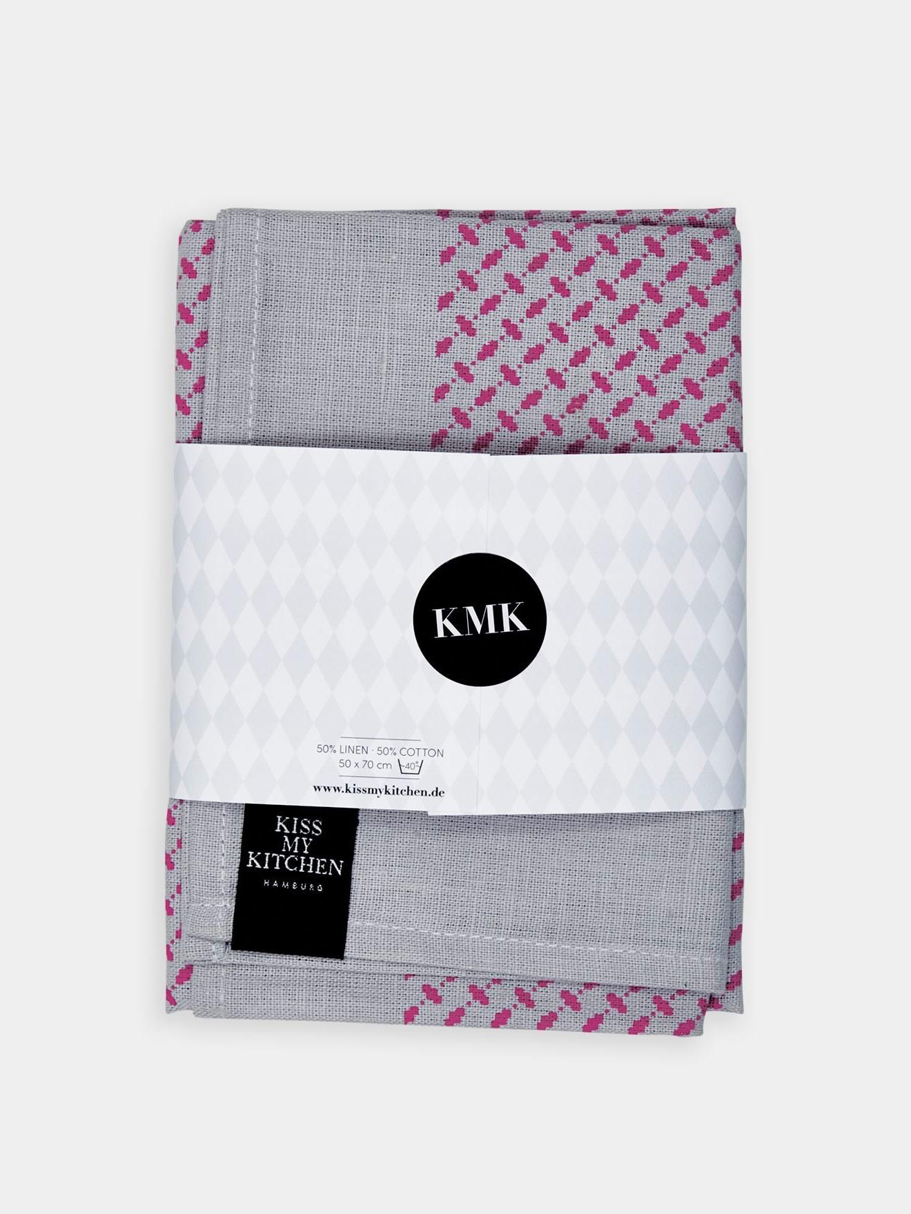 geschirrtuchpali pur grey pink kiss my kitchen. Black Bedroom Furniture Sets. Home Design Ideas