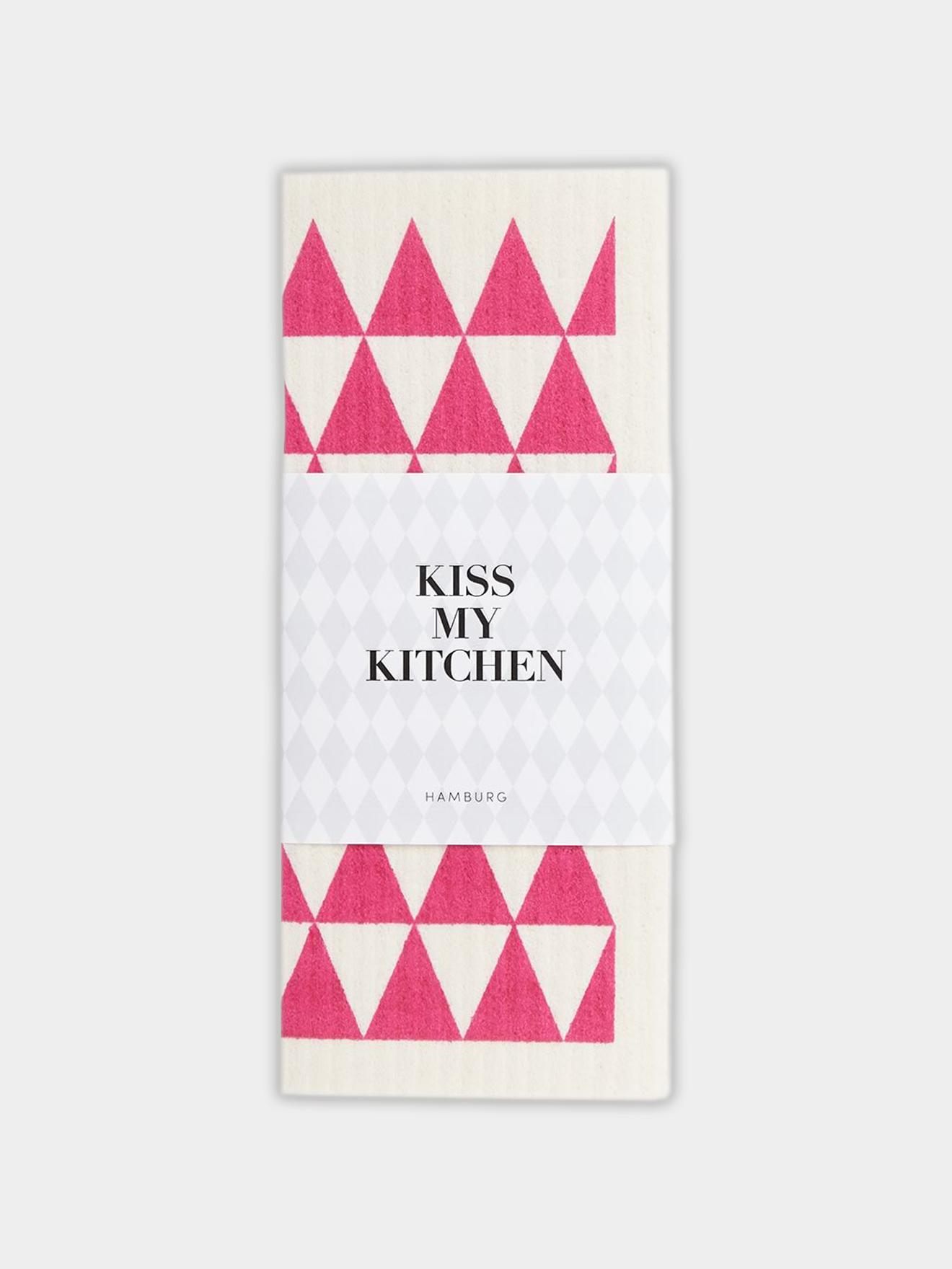 schwammtuchdreieck pink kiss my kitchen. Black Bedroom Furniture Sets. Home Design Ideas