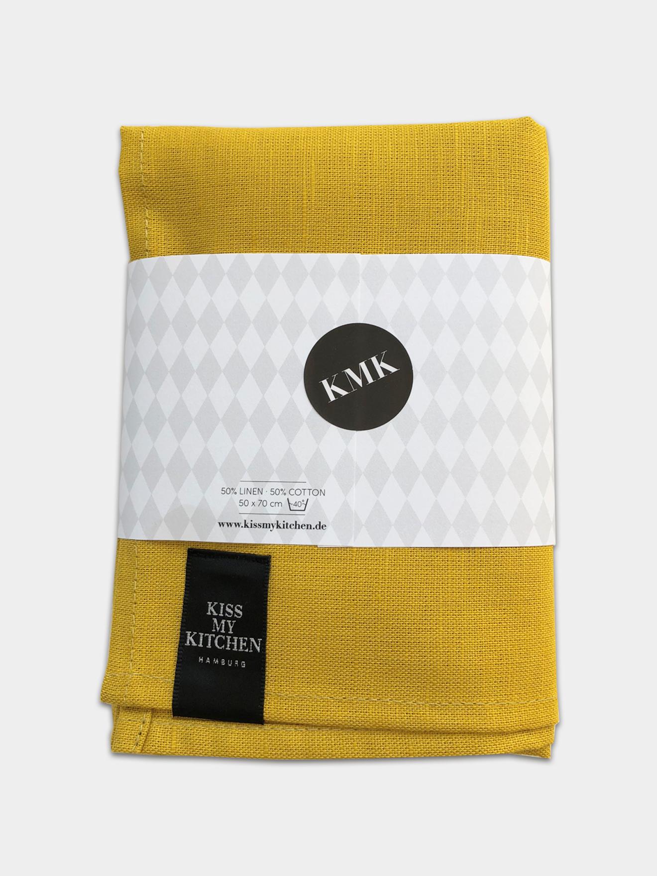 geschirrtuchuni yellow kiss my kitchen. Black Bedroom Furniture Sets. Home Design Ideas